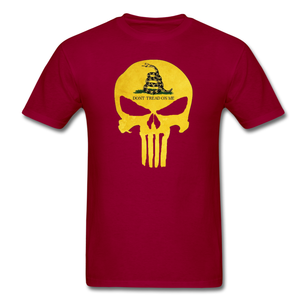 Don't Trend On Me Skull T-Shirt - dark red