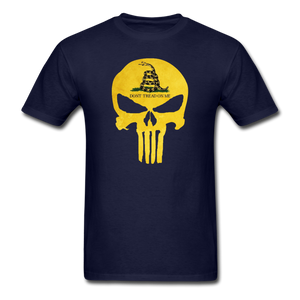 Load image into Gallery viewer, Don't Trend On Me Skull T-Shirt - navy