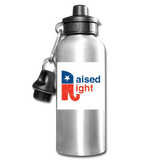 Raised Right Water Bottle - silver