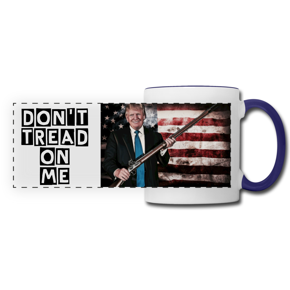 Trump Gun Rights Mug - white/cobalt blue