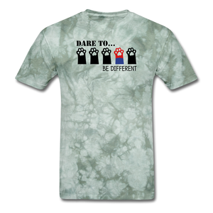 Be Different T-Shirt - military green tie dye