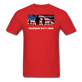 Freedom Isn't Free T-Shirt - red
