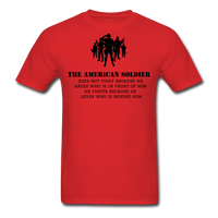 American Soldier T-Shirt - red