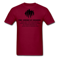 American Soldier T-Shirt - burgundy