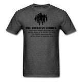 American Soldier T-Shirt - heather black