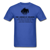 American Soldier T-Shirt - royal blue