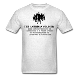 American Soldier T-Shirt - light heather gray
