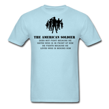 American Soldier T-Shirt - powder blue