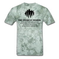 American Soldier T-Shirt - military green tie dye