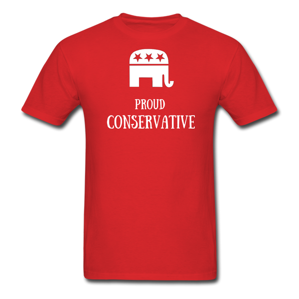 Proud Conservative T-Shirt - red