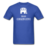 Proud Conservative T-Shirt - royal blue