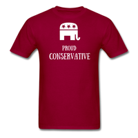 Proud Conservative T-Shirt - dark red