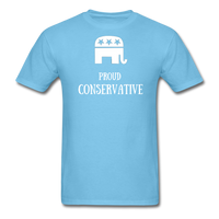 Proud Conservative T-Shirt - aquatic blue