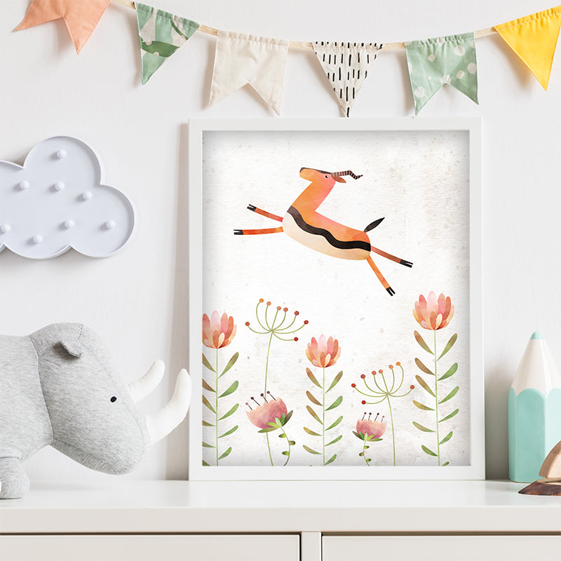 Free Antelope Jungle Wall Art