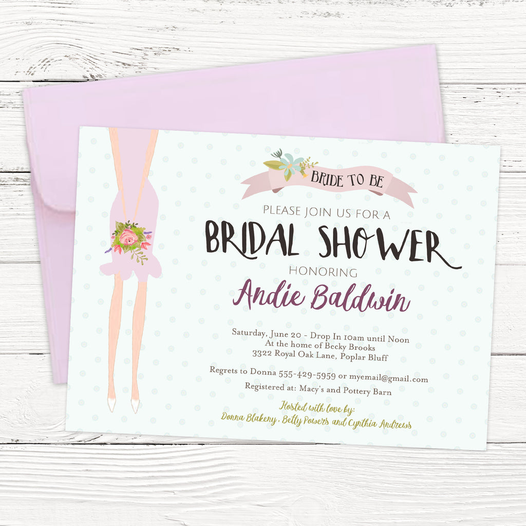 FREE Bride to Be Bridal Shower Invitation Template