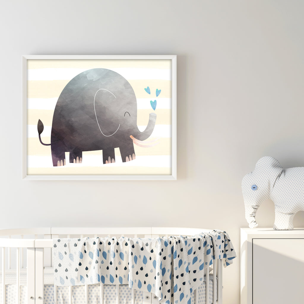 Free Printable Elephant Wall Art