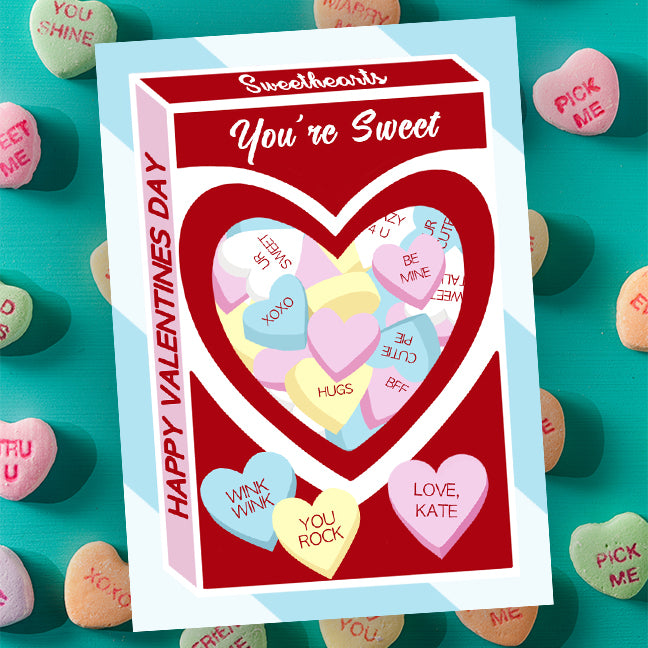 Free Sweetheart Candy Valentine Gift Tag