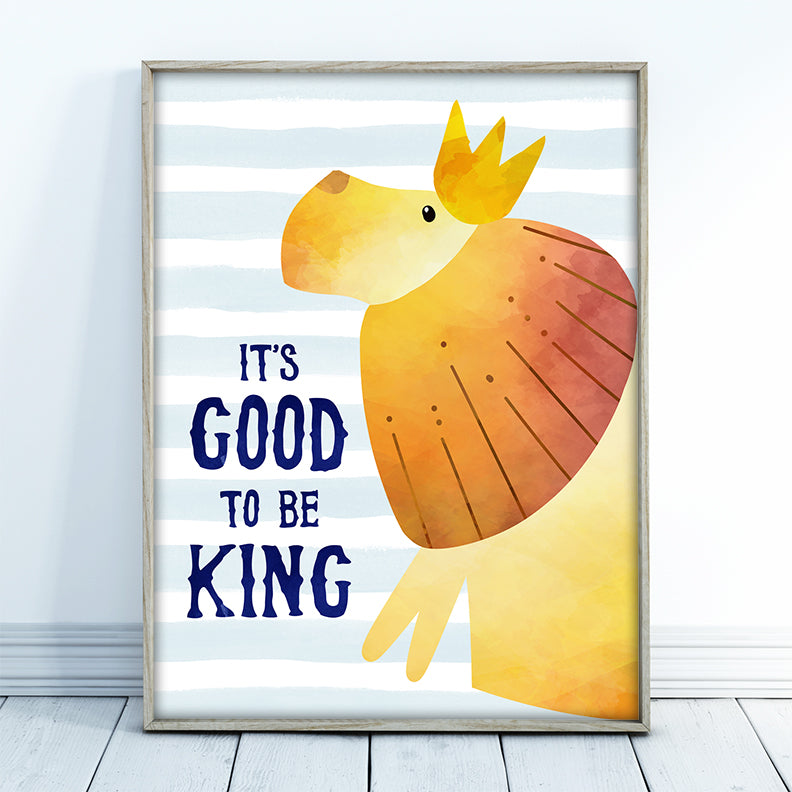 King of the Jungle Lion Wall Art - Free Printable