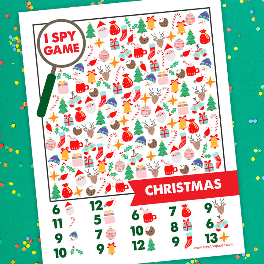 Free Christmas I Spy Game