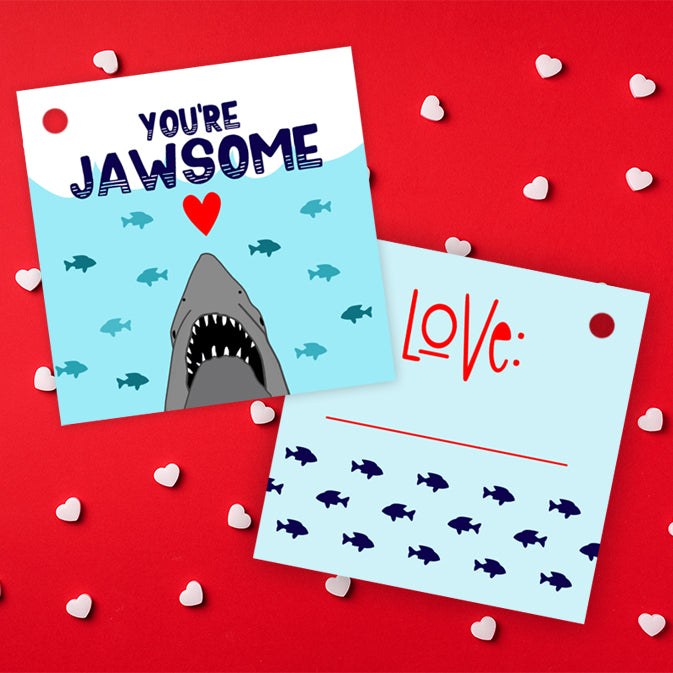 Free Printable Jaws Shark Valentines