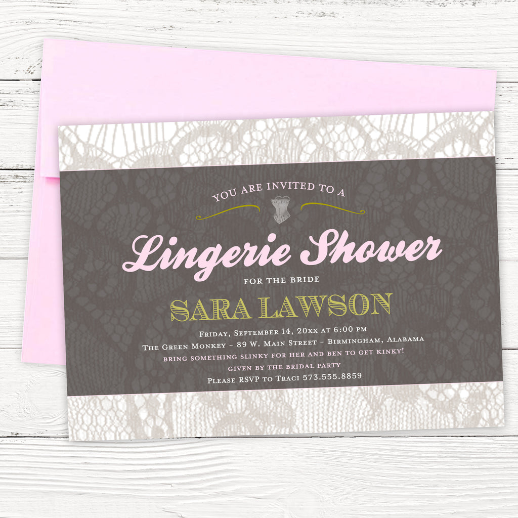 FREE Lingerie Shower Invitation Template