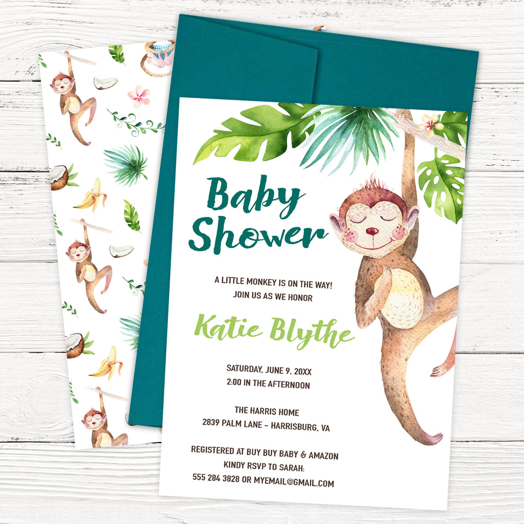 Free Monkey Baby Shower Invitation