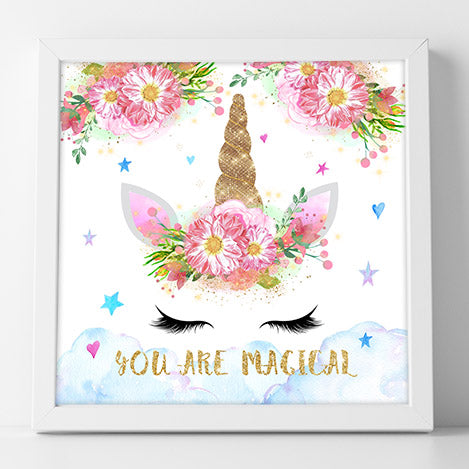 Free Magical Unicorn Wall Art