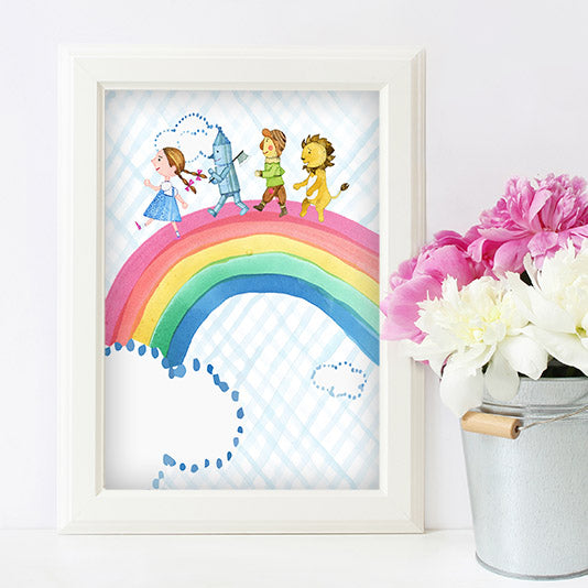 Free Wizard of Oz Rainbow Wall Art