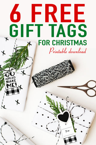 6 free Christmas gift tags printable download