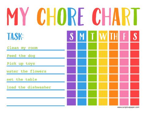 editable chore chart for kids free download