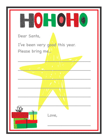 letter to santa free christmas wish list printable