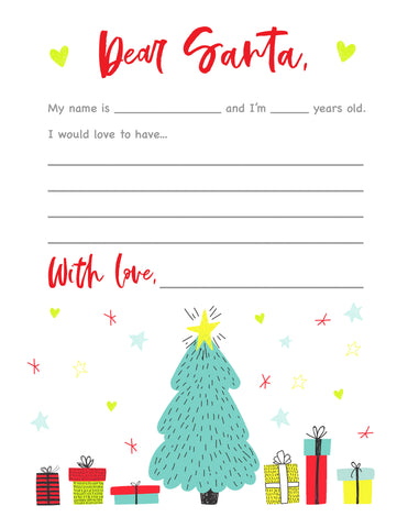 christmas tree letter to Santa