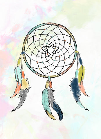 colorful dream catcher wall art for girls bedroom free printable wall decor