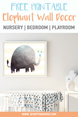 elephant nursery wall art for kids decor