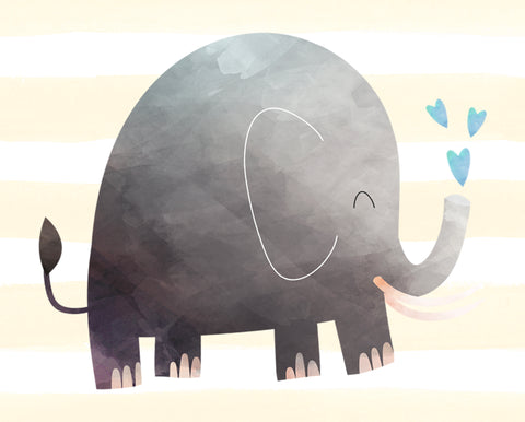 elephant wall art decor for nursery