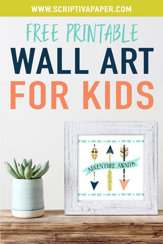 free adventure arrow wall art for kids printable home decor
