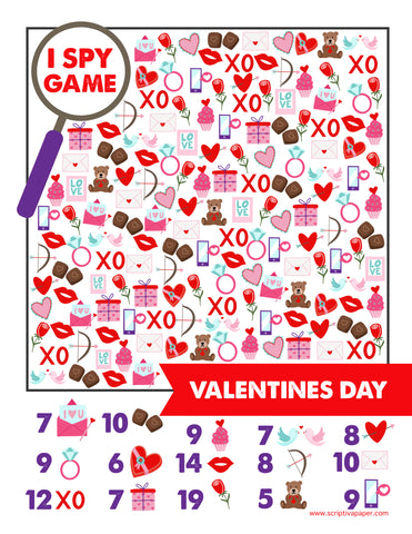 free printable Valentines Day activity worksheet for school and homeschoolers
