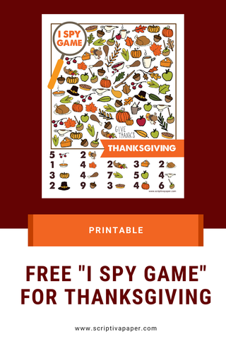 Free I Spy activity for kids - thanksgiving activity game