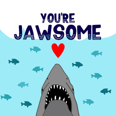 free printable Jaws Shark Valentine