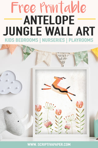 safari nursery wall art free printable