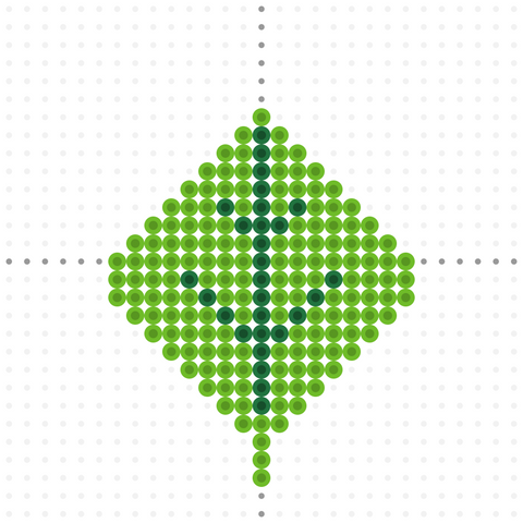 green leaf perler bead template for thanksgiving and fall fusion beads free