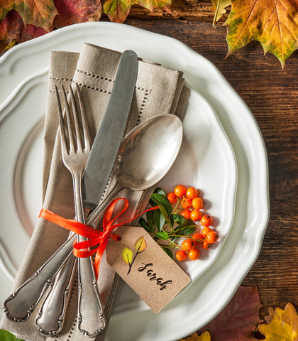 leaves thanksgiving place card free printable download