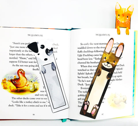 free printable DIY pet bookmarks for kids dog cat bunny rabbit