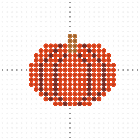 pumpkin perler bead template for thanksgiving fusion bead templates free