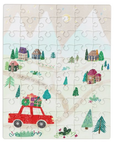cute christmas village puzzle for kids 60 pieces