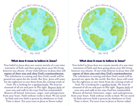 Christian gospel flyer tract free printable