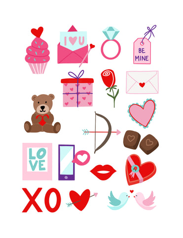 free Valentine's Day stickers for cricut or silhouette