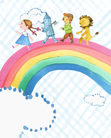 somewhere over the rainbow wizard of oz wall art print decor