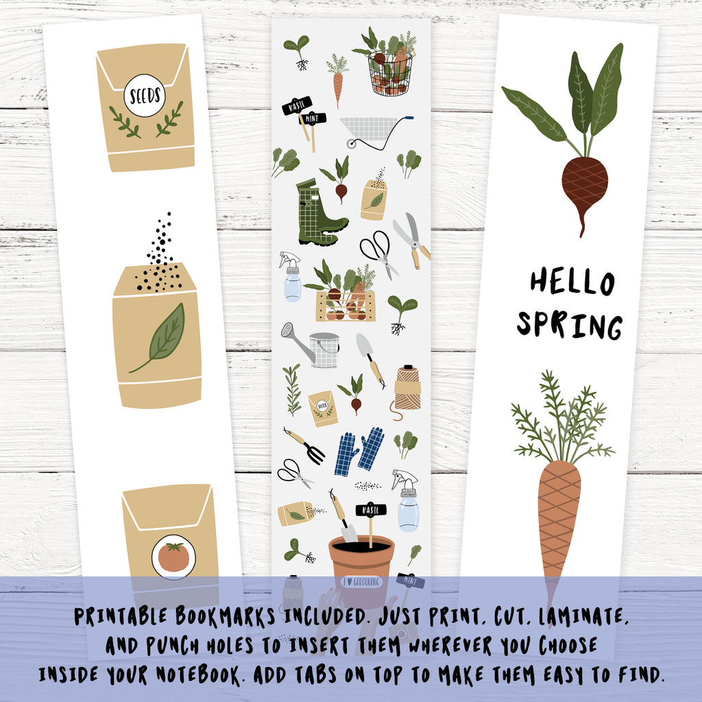 Printable Gardening Journal Notebook