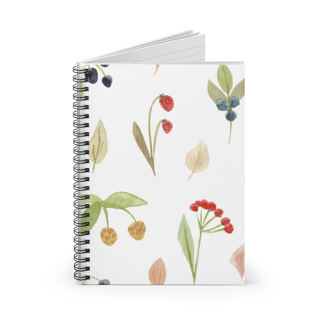 Watercolor Berries Notebook